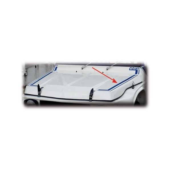 Autocollant AV + AR bleu mehari mehari 4x4
