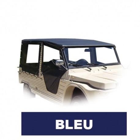 Jeu complet toile PVC 6 pièces Bleu Marine + élastique et couvre roue de secours pub mehari mehari 4x4