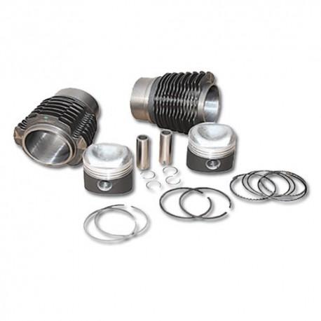 Cylindre + piston moteur 425 cm3 x2 (diamétre 66x62) 2cv dyane