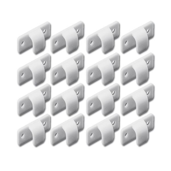 LOT DE 16 CROCHETS PLASTIQUES BLANCS mehari mehari 4x4