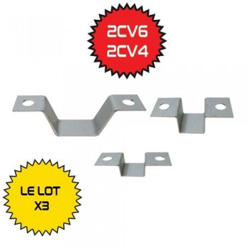 LOT DE 3 PATES ECHAPPEMENT 2CV - DYANE