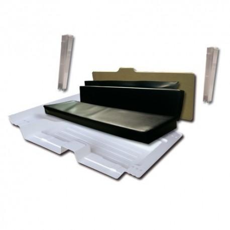 Adaptateur 4 places complet avec siège NOIR et planche en hydrofuge + butées mehari mehari 4x4