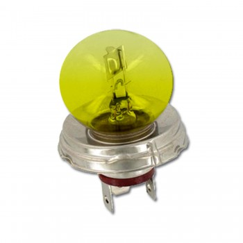 AMPOULE CODE PHARE JAUNE 12V  A BROCHE 45/40W