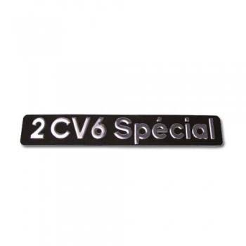 MONOGRAMME INOX EN RELIEF 2CV6 SPECIAL 2cv 6