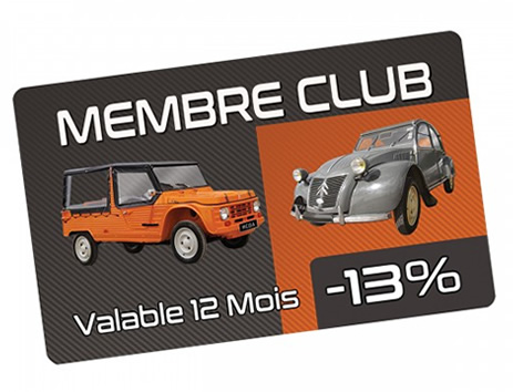 Carte de réduction Club Mehari Côte d'Azur